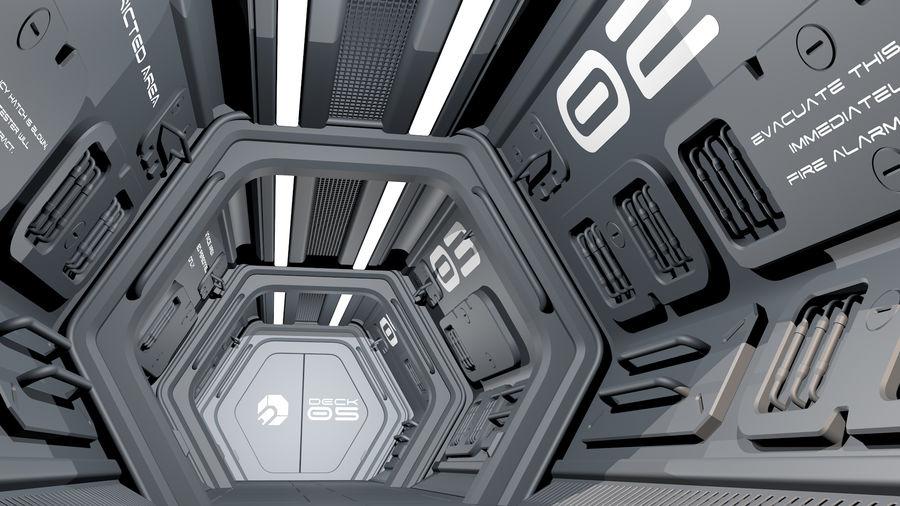 Sci-Fi Spaceship Corridor royalty-free 3d model - Preview no. 3