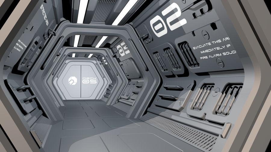 Sci-Fi Spaceship Corridor royalty-free 3d model - Preview no. 5