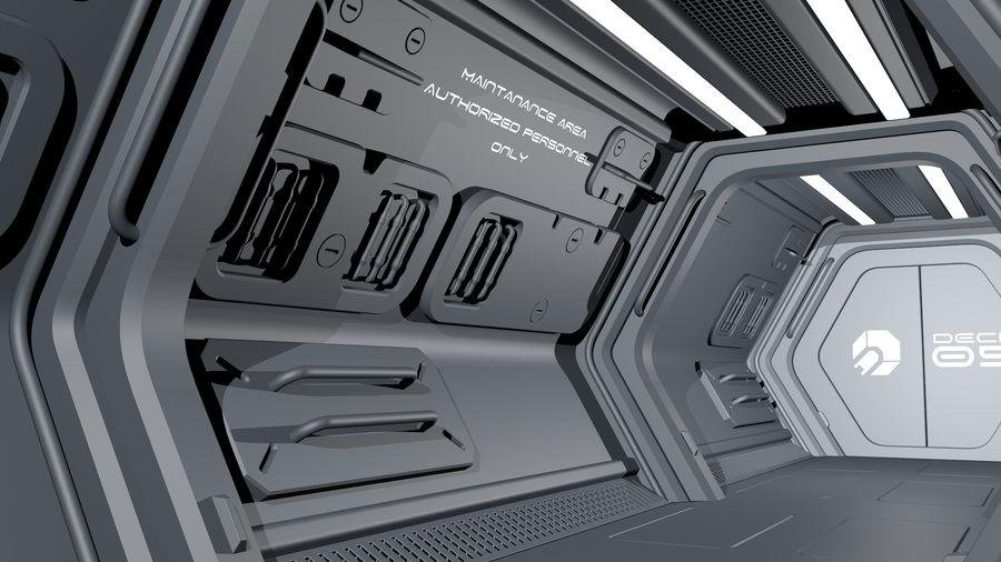 Sci-Fi Spaceship Corridor royalty-free 3d model - Preview no. 7
