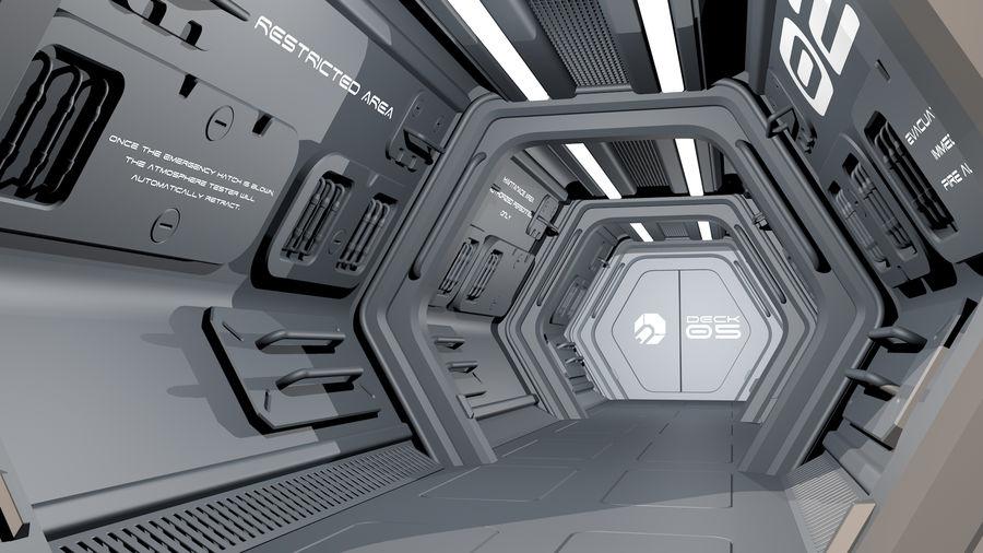 Sci-Fi Spaceship Corridor royalty-free 3d model - Preview no. 4