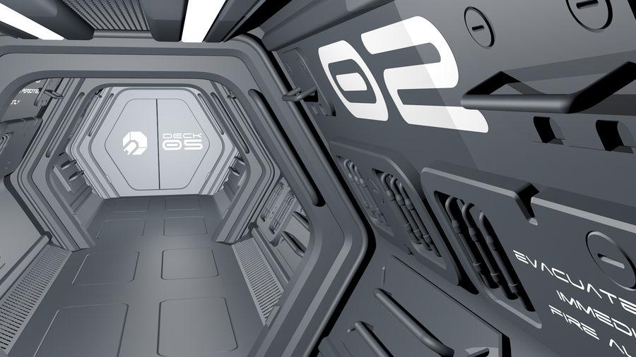 Sci-Fi Spaceship Corridor royalty-free 3d model - Preview no. 6