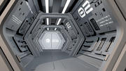 Sci-Fi Spaceship Corridor 3d model