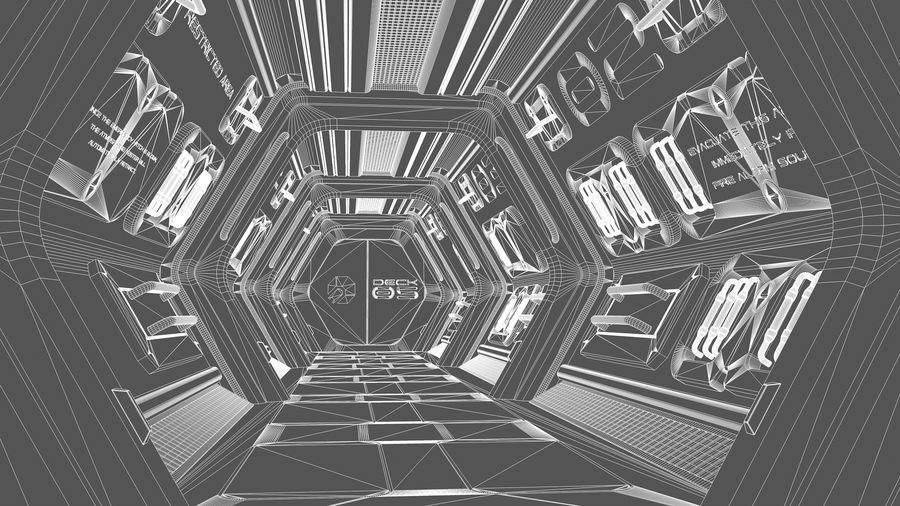 Sci-Fi Spaceship Corridor royalty-free 3d model - Preview no. 8