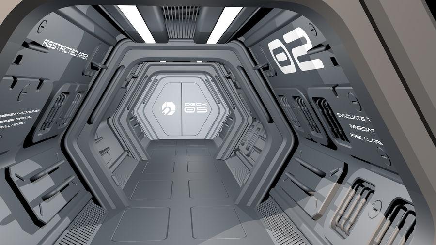 Sci-Fi Spaceship Corridor royalty-free 3d model - Preview no. 2