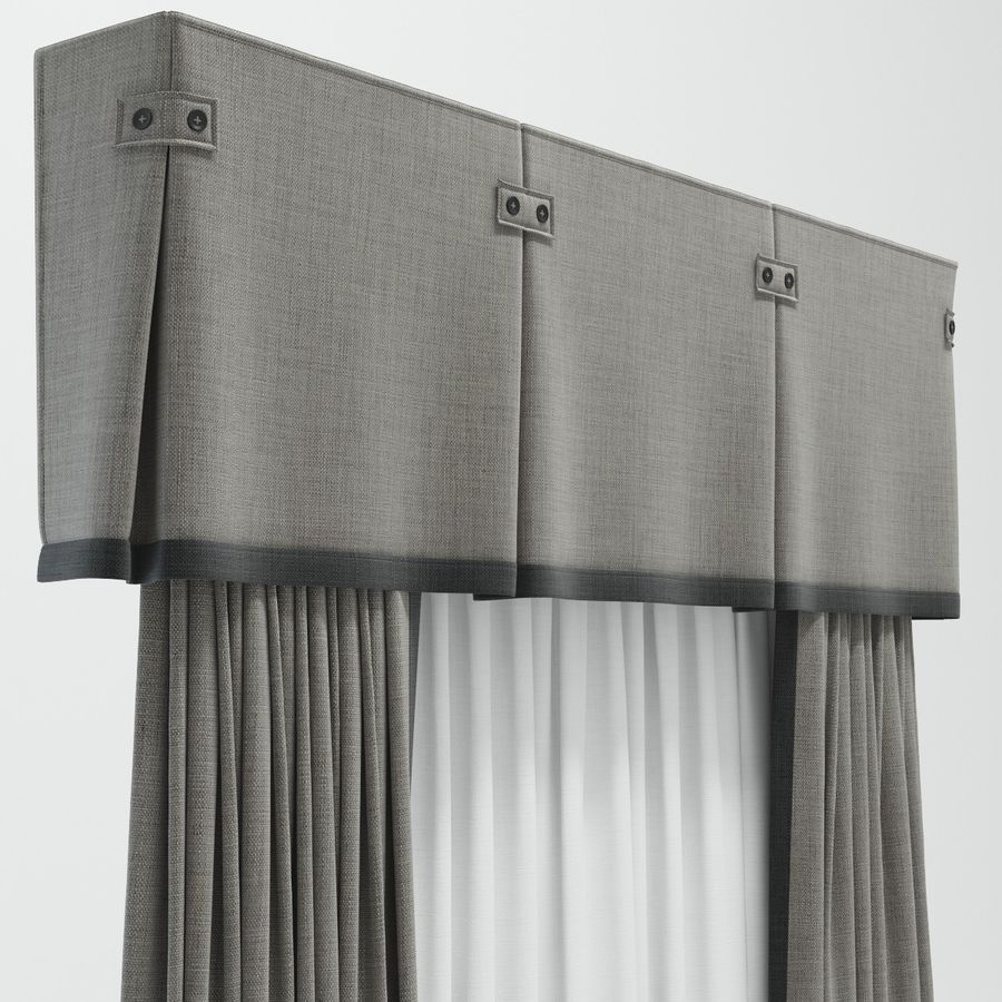 curtains royalty-free 3d model - Preview no. 4