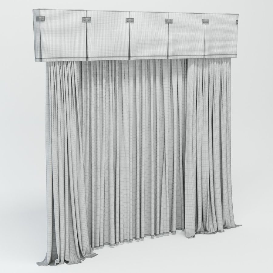 curtains royalty-free 3d model - Preview no. 8