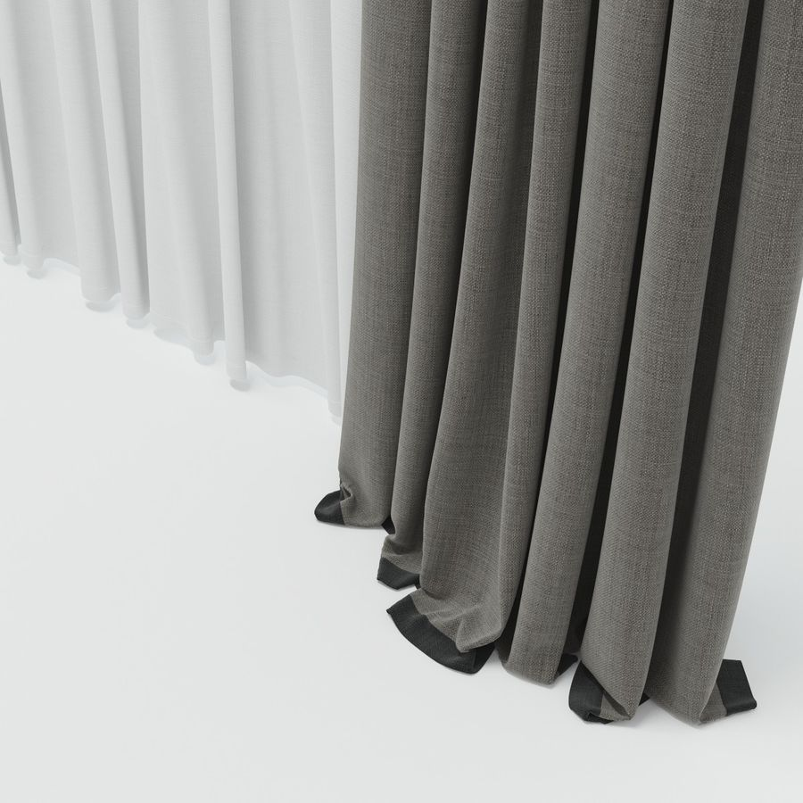 curtains royalty-free 3d model - Preview no. 12