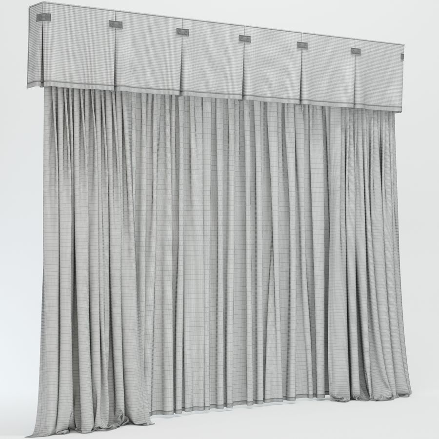 curtains royalty-free 3d model - Preview no. 13