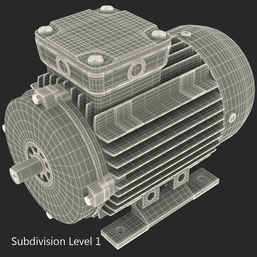 Electric Motor royalty-free 3d model - Preview no. 27