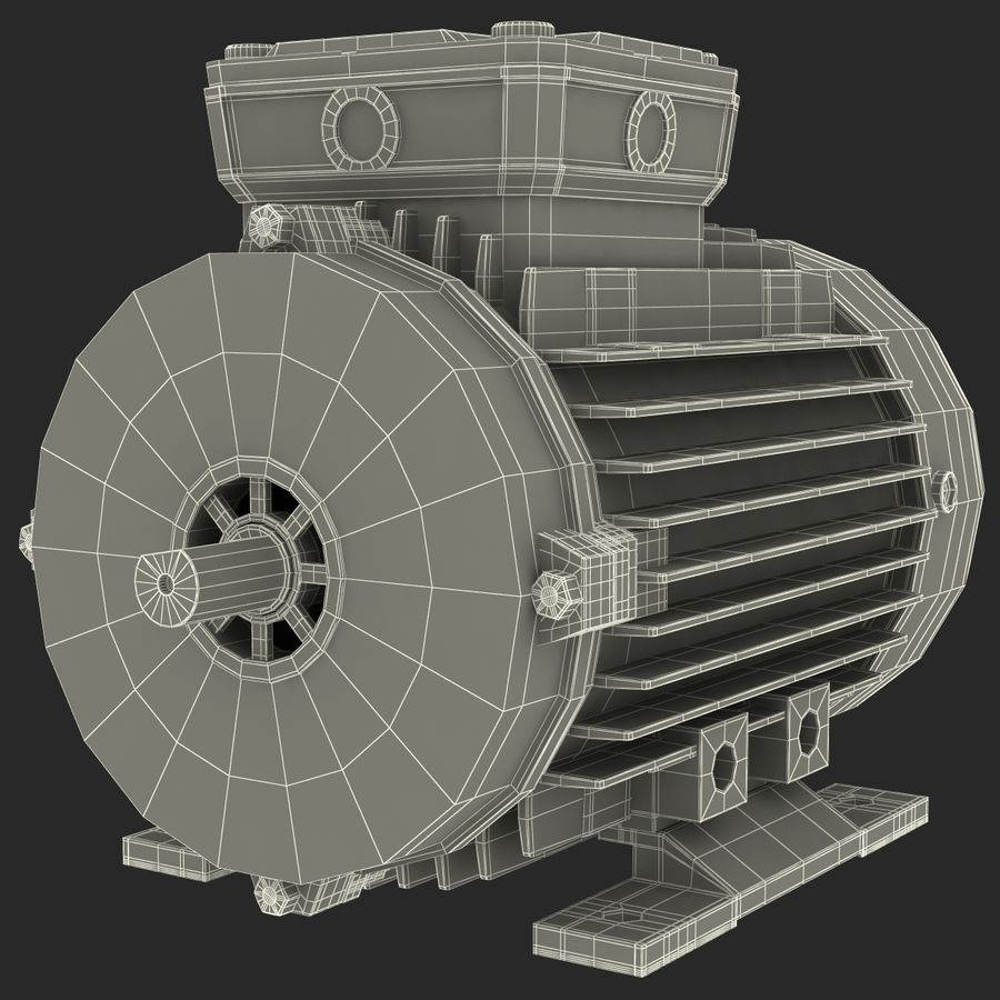 Electric Motor royalty-free 3d model - Preview no. 31