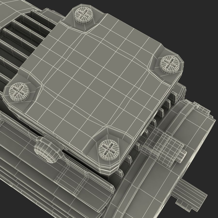 Electric Motor royalty-free 3d model - Preview no. 37