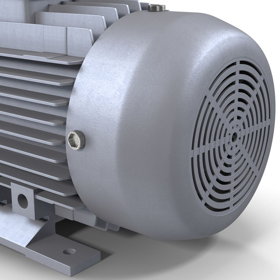 Electric Motor royalty-free 3d model - Preview no. 15
