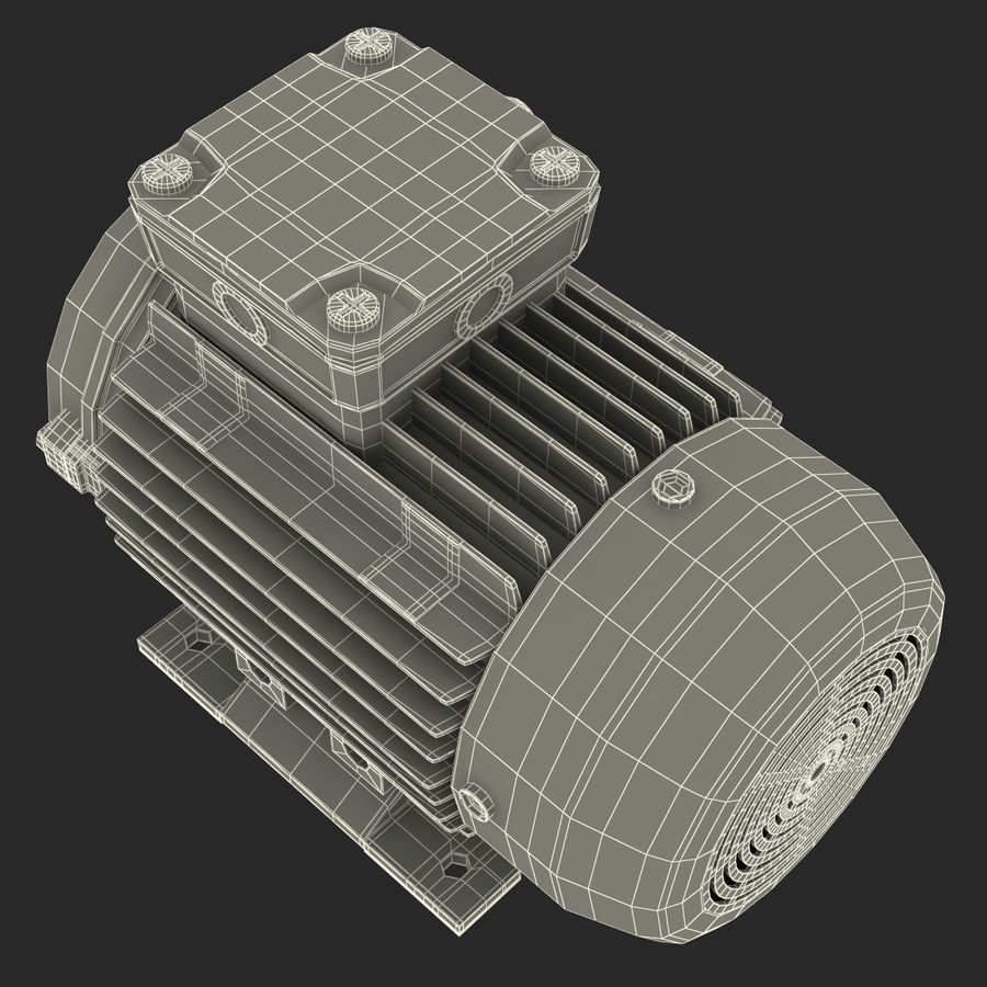 Electric Motor royalty-free 3d model - Preview no. 35