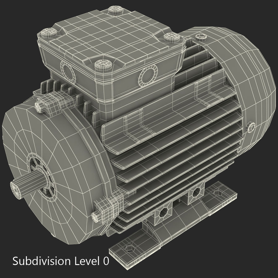 Electric Motor royalty-free 3d model - Preview no. 26