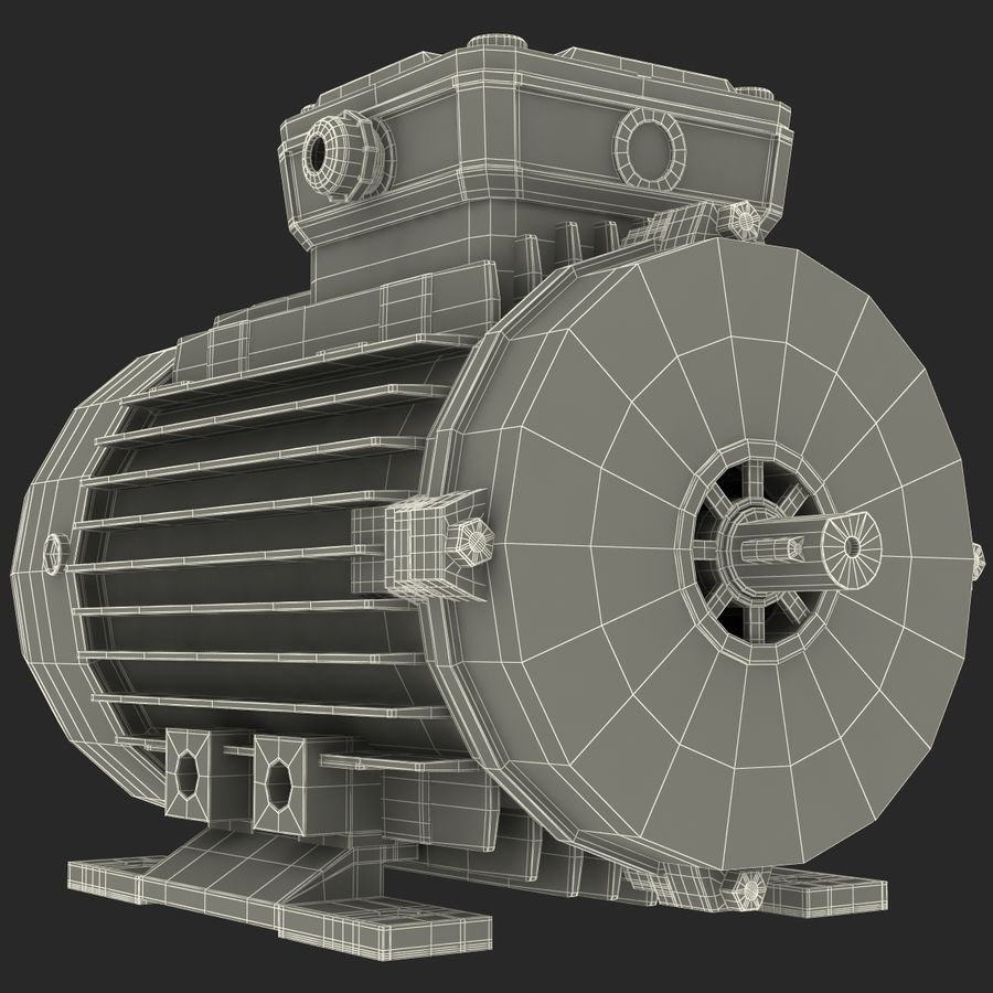 Electric Motor royalty-free 3d model - Preview no. 32