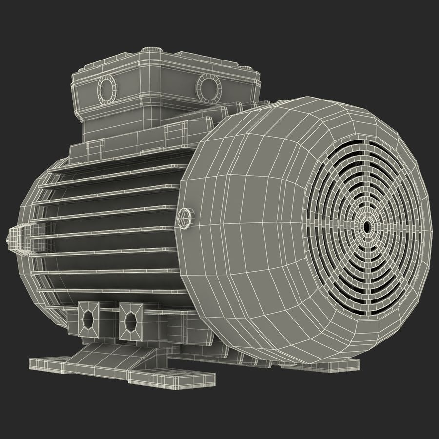Electric Motor royalty-free 3d model - Preview no. 34