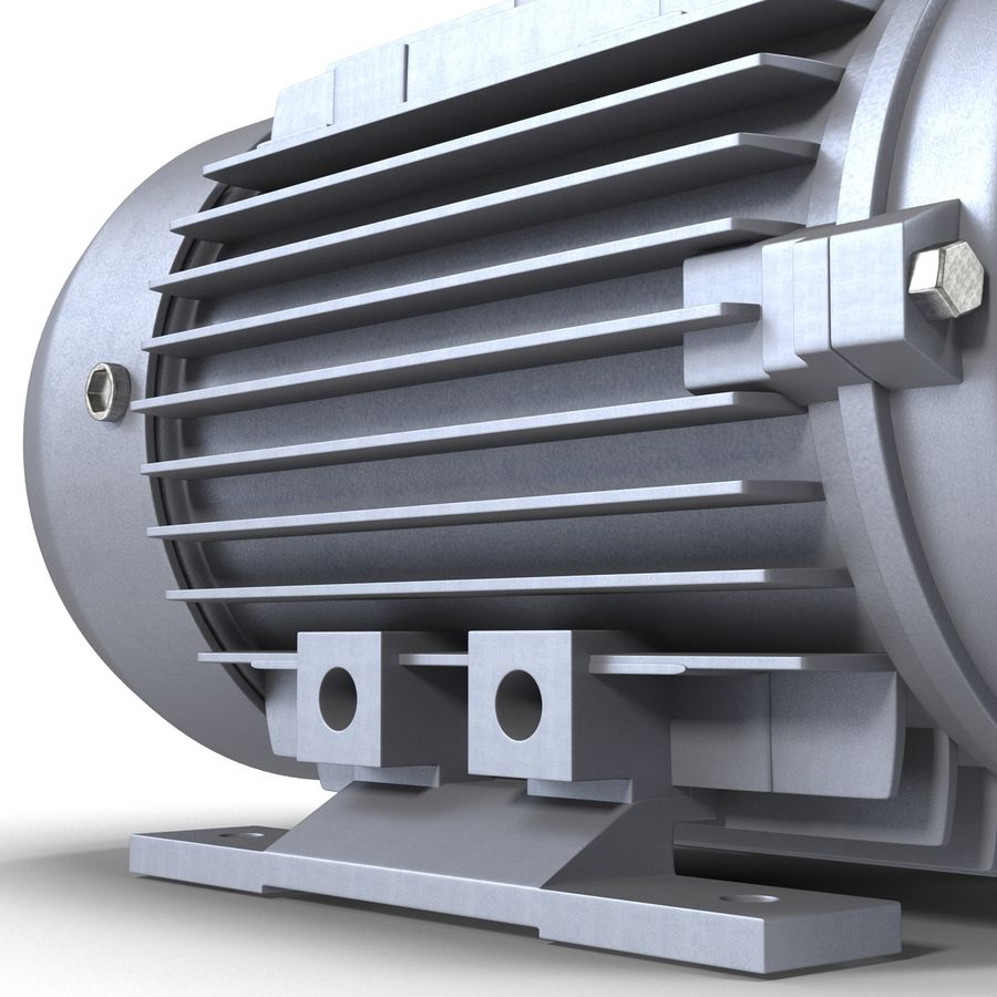 Electric Motor royalty-free 3d model - Preview no. 18