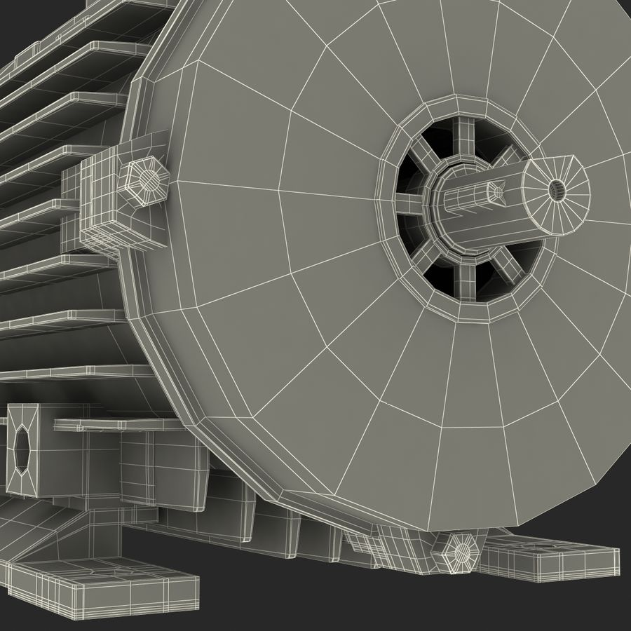 Electric Motor royalty-free 3d model - Preview no. 40