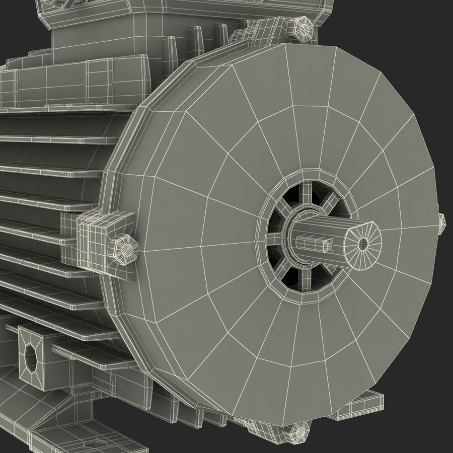 Electric Motor royalty-free 3d model - Preview no. 36