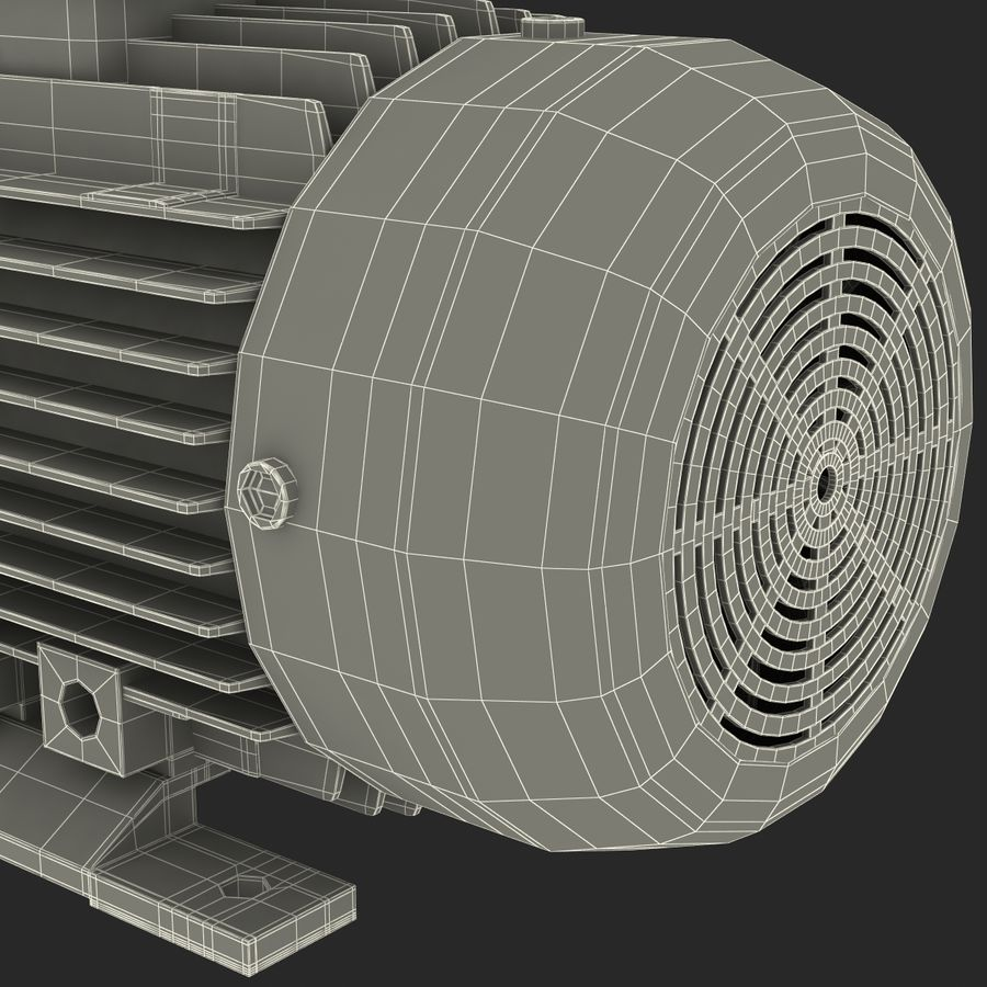 Electric Motor royalty-free 3d model - Preview no. 38