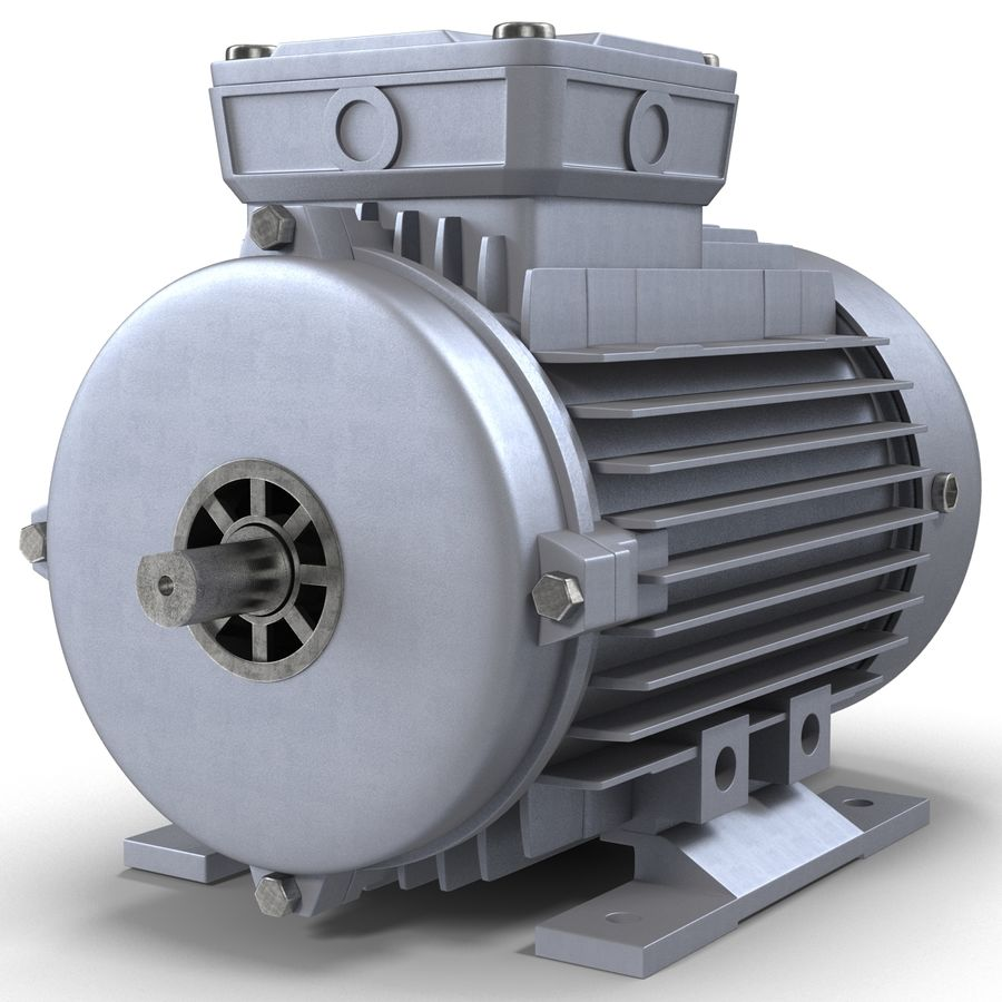 Elektrische motor royalty-free 3d model - Preview no. 4