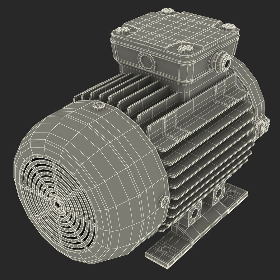 Electric Motor royalty-free 3d model - Preview no. 33