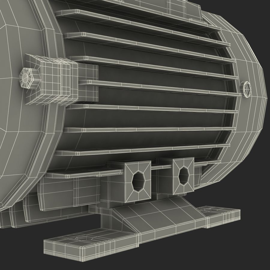 Electric Motor royalty-free 3d model - Preview no. 39