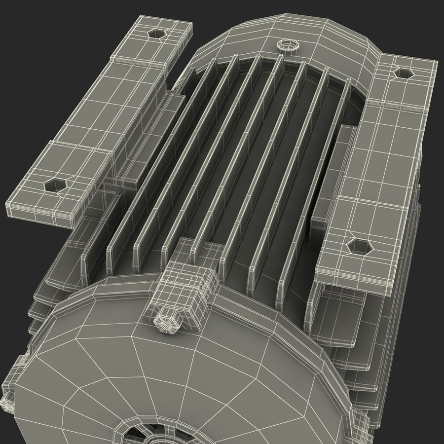 Electric Motor royalty-free 3d model - Preview no. 43