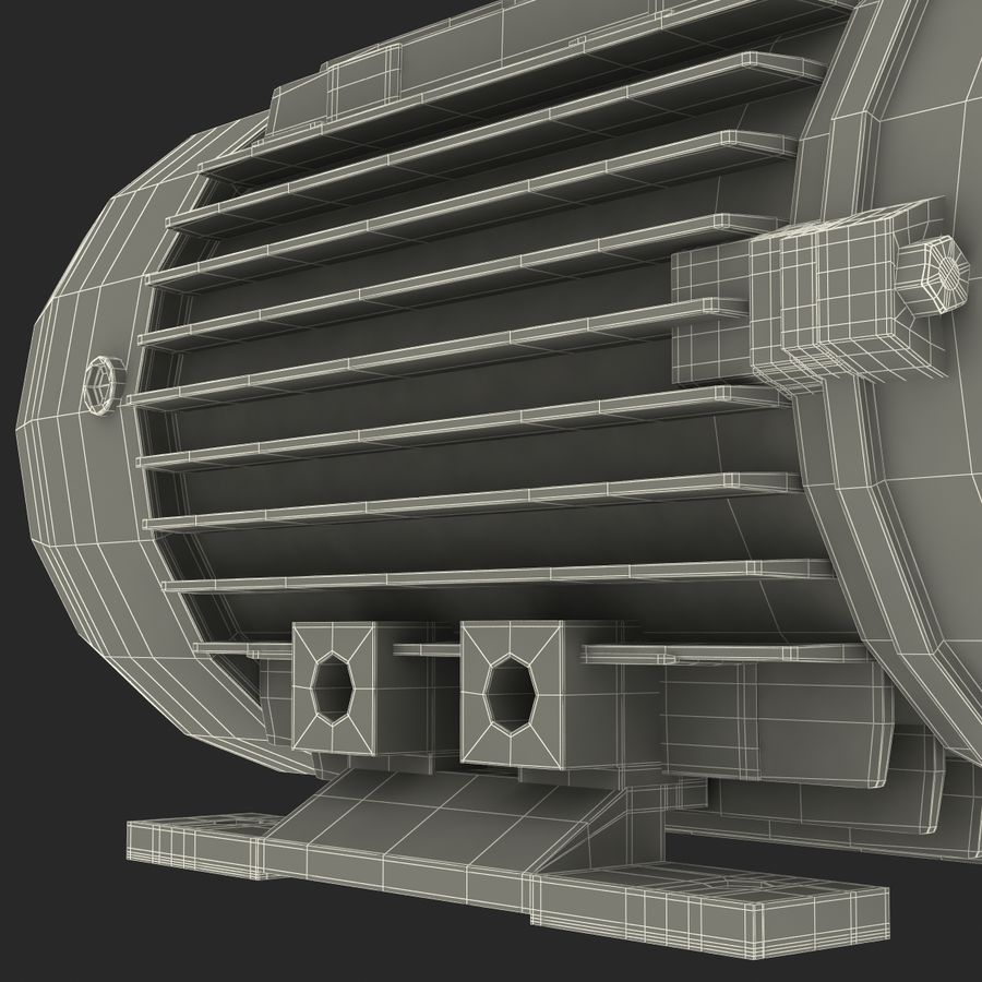 Electric Motor royalty-free 3d model - Preview no. 41