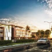 Exteriör bostäder och kontor 3d model