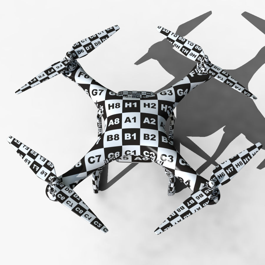 DJI Phantom 2 Drone royalty-free modelo 3d - Preview no. 6