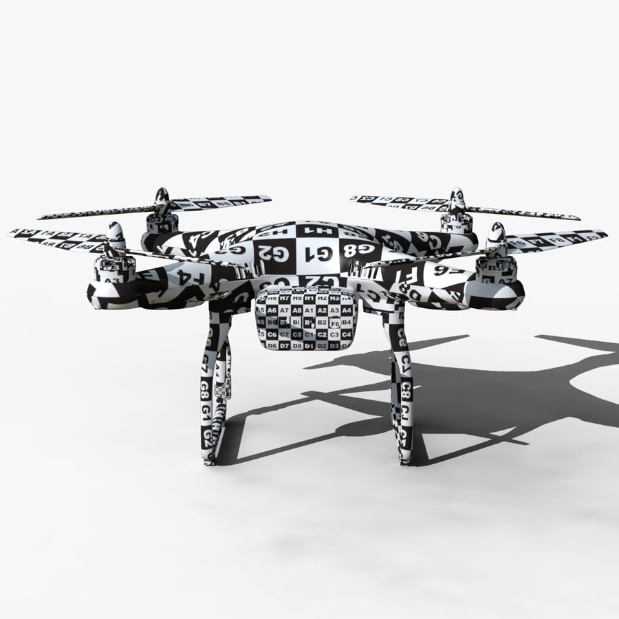 DJI Phantom 2 Drone royalty-free modelo 3d - Preview no. 12