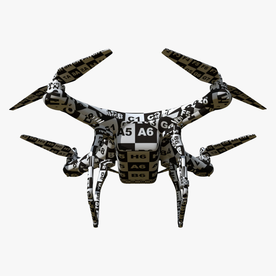 DJI Phantom 2 Drone royalty-free modelo 3d - Preview no. 9
