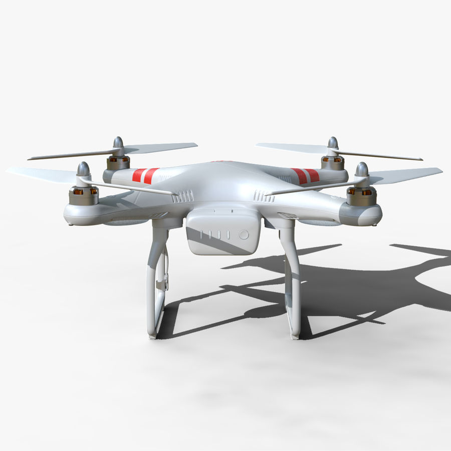 DJI Phantom 2 Drone royalty-free modelo 3d - Preview no. 11