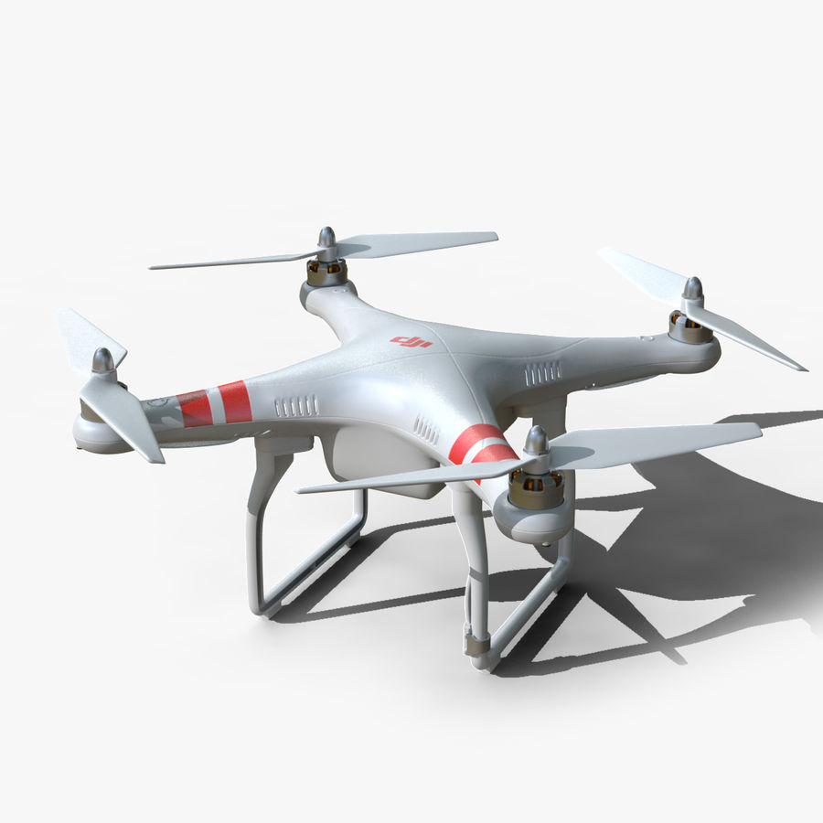 DJI Phantom 2 Drone royalty-free modelo 3d - Preview no. 1