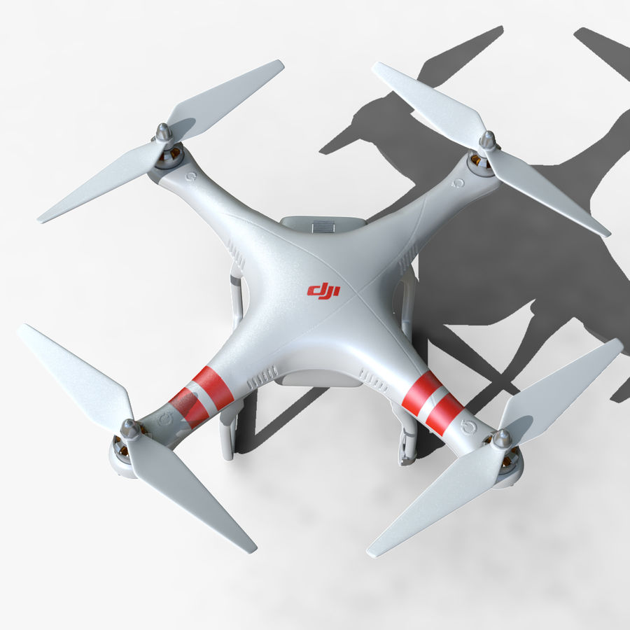 DJI Phantom 2 Drone royalty-free modelo 3d - Preview no. 5