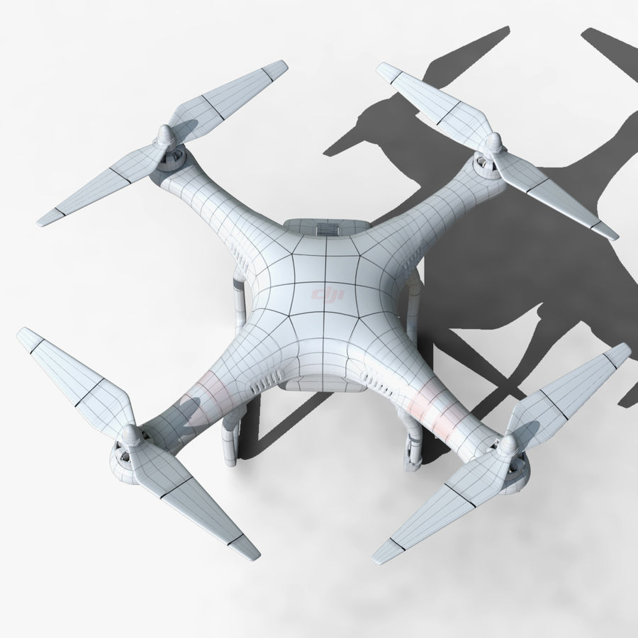 DJI Phantom 2 Drone royalty-free modelo 3d - Preview no. 7
