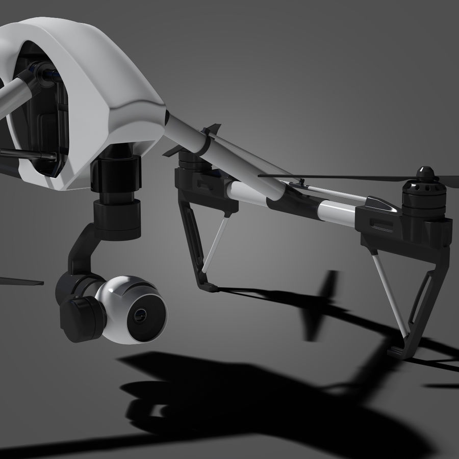 Quadrocopter royalty-free 3d model - Preview no. 8