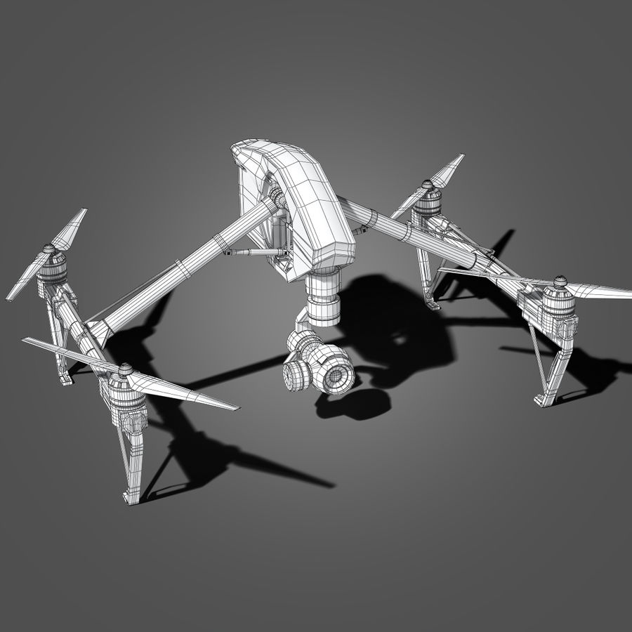Quadrocopter royalty-free 3d model - Preview no. 9