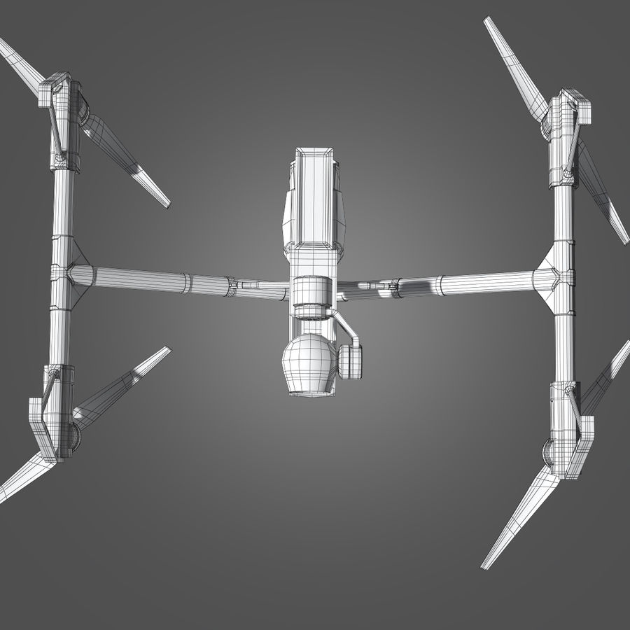 Quadrocopter royalty-free 3d model - Preview no. 11