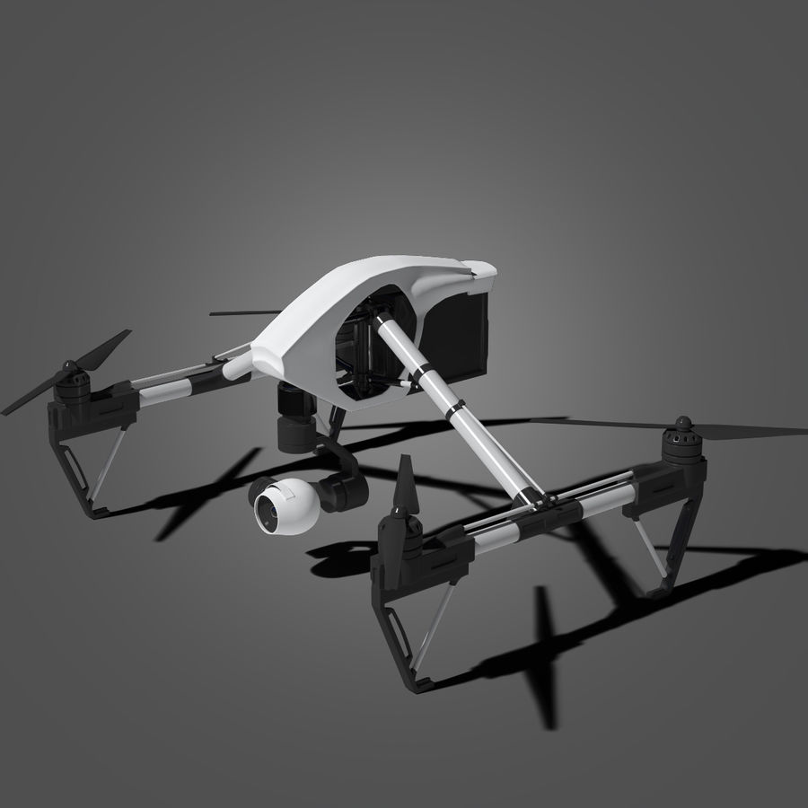Quadrocopter royalty-free 3d model - Preview no. 3