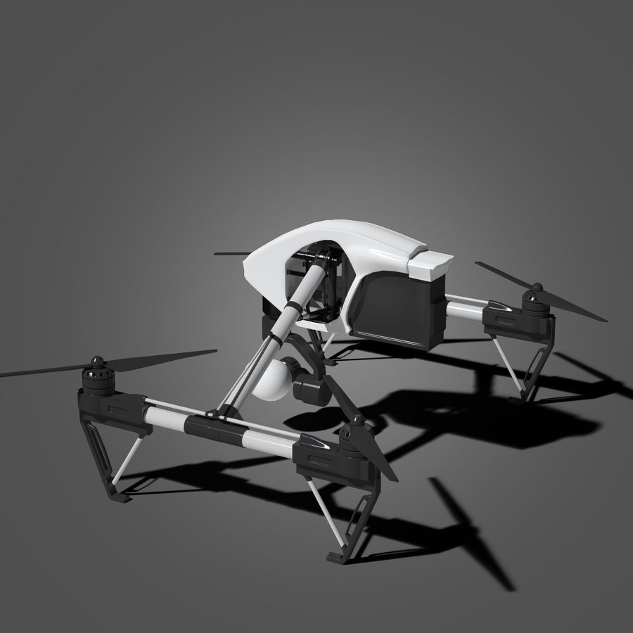 Quadrocopter royalty-free 3d model - Preview no. 4
