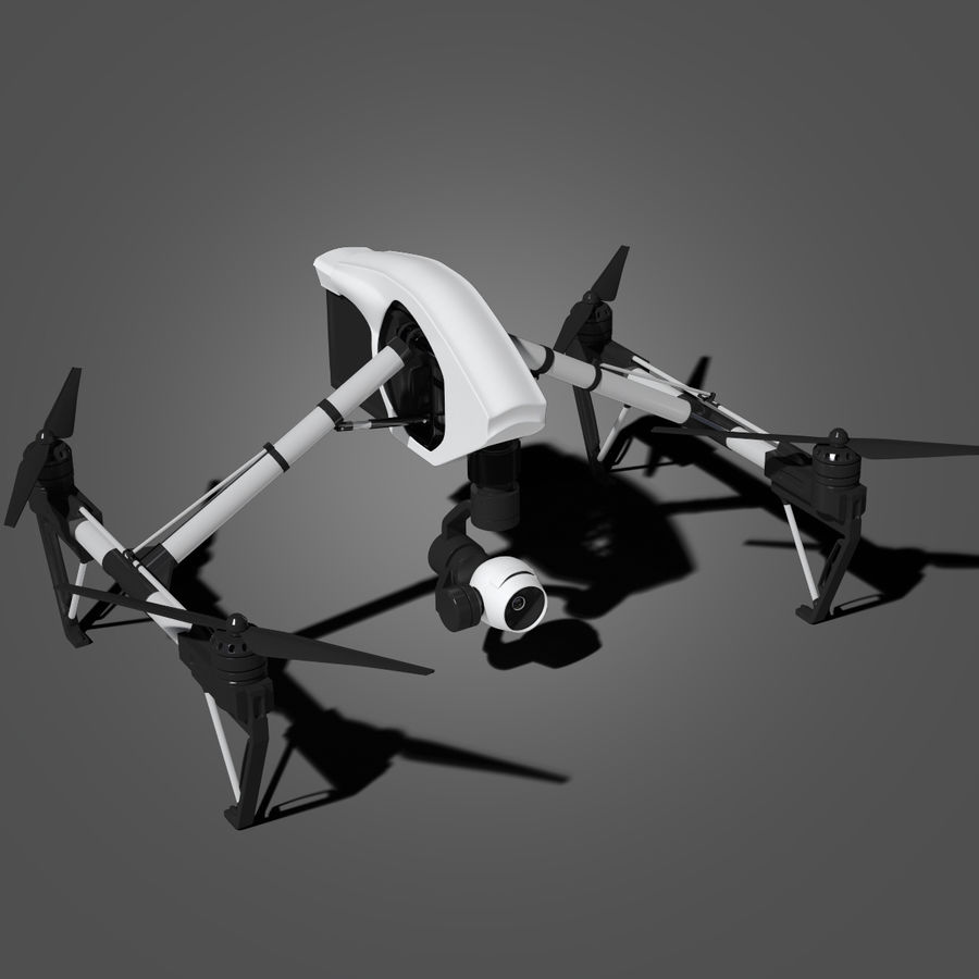 Quadrocopter royalty-free 3d model - Preview no. 2