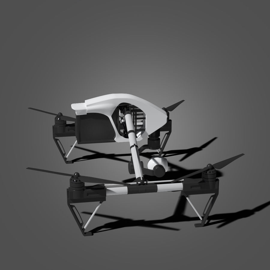 Quadrocopter royalty-free 3d model - Preview no. 6