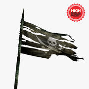 Piraten vlag 3d model