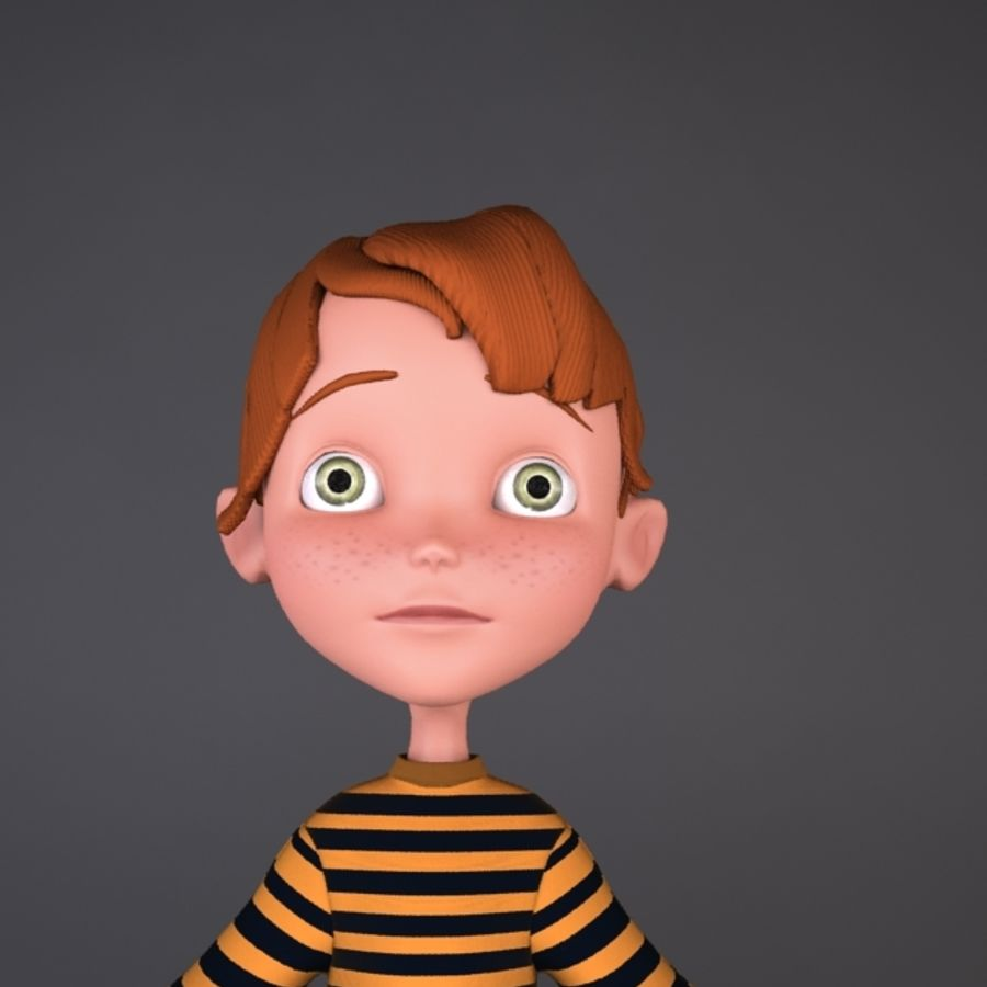 cartoon boy Jack royalty-free 3d model - Preview no. 2
