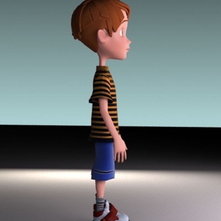 cartoon boy Jack royalty-free 3d model - Preview no. 4