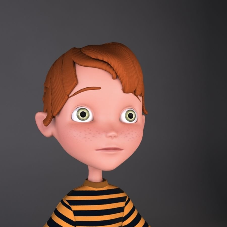cartoon boy Jack royalty-free 3d model - Preview no. 1