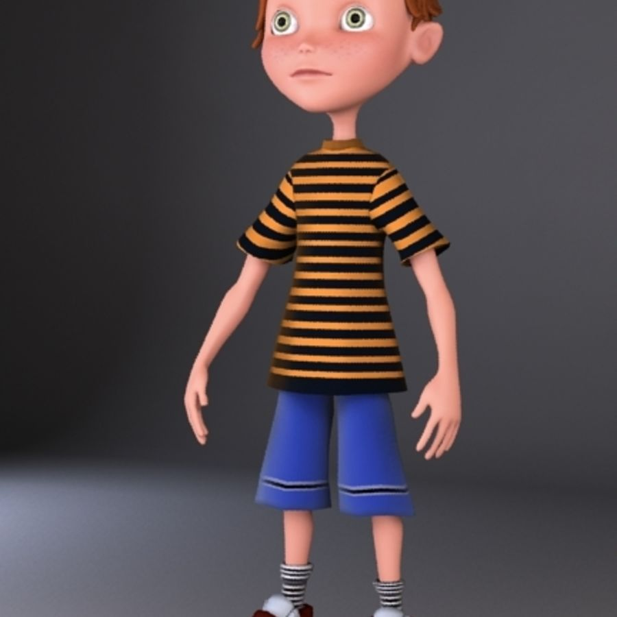 cartoon boy Jack royalty-free 3d model - Preview no. 6
