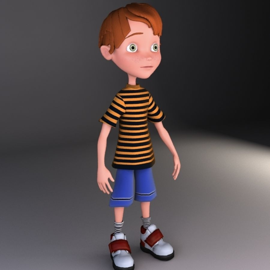 cartoon boy Jack royalty-free 3d model - Preview no. 3